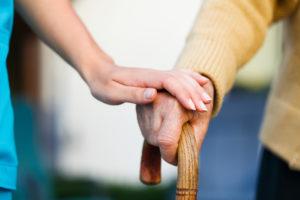 Image: holding hand